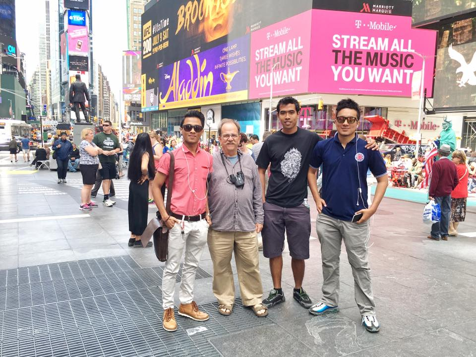 My team and me at Times Squares, New York